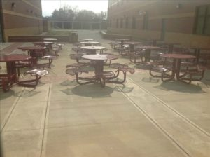 Carver High School Outdoor Seating