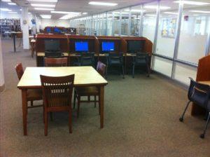 Lawson State Media Center Computer Carrels